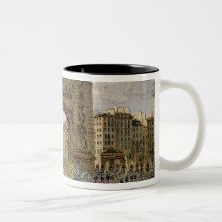 Procession of Pope Pius VII  in Paris Two-Tone Coffee Mug