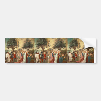 Procession of Queen of Sheba  by Piero Francesca Bumper Stickers