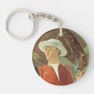 Procession of Queen of Sheba by Piero Francesca Single-Sided Round Acrylic Keychain