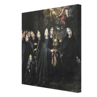 Procession of St. Clare with the Eucharist Canvas Print