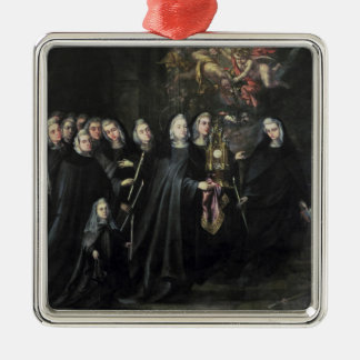 Procession of St. Clare with the Eucharist Metal Ornament