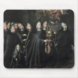 Procession of St. Clare with the Eucharist Mouse Pad