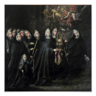 Procession of St. Clare with the Eucharist Poster