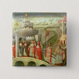 Procession of St. Gregory to the Castel St. Angelo Button