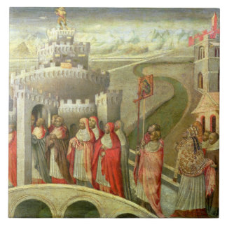 Procession of St. Gregory to the Castel St. Angelo Ceramic Tile