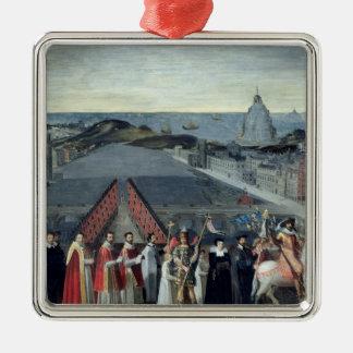 Procession of the Brotherhood of Saint-Michel Metal Ornament