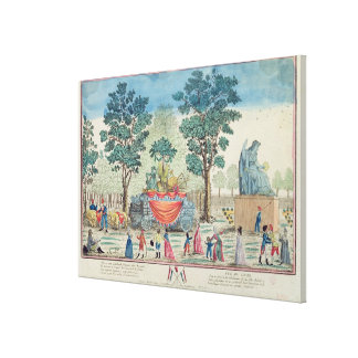 Procession of the Chariot of Agriculture Canvas Print