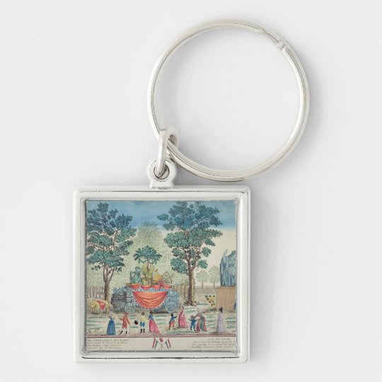 Procession of the Chariot of Agriculture Keychain