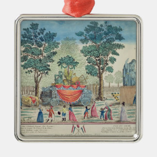 Procession of the Chariot of Agriculture Square Metal Christmas Ornament