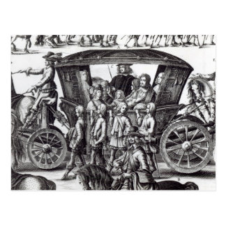 Procession of the entry postcard