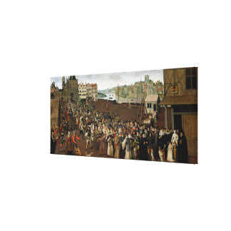 Procession of the Holy League Canvas Print