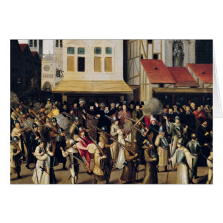 Procession of the Holy League in 1590 Card