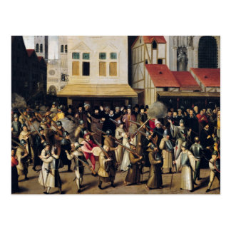 Procession of the Holy League in 1590 Postcard