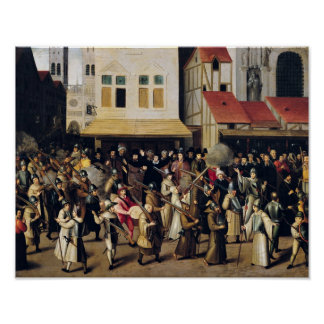 Procession of the Holy League in 1590 Poster