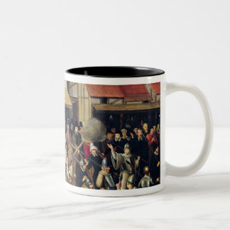 Procession of the Holy League in 1590 Two-Tone Coffee Mug