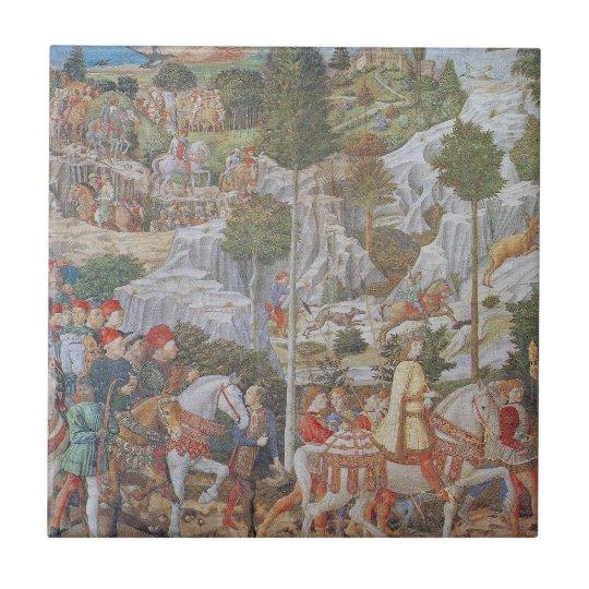 Procession of the Magi By Gozzoli circa 1459 Tile