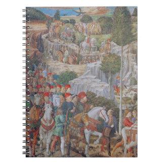 Procession of the Magi Fresco by Gozzoli 1459 Note Spiral Note Books