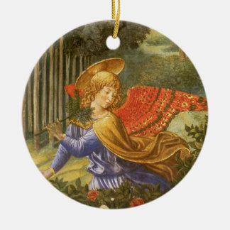 Procession of the Magi, Renaissance Angel Art Ceramic Ornament