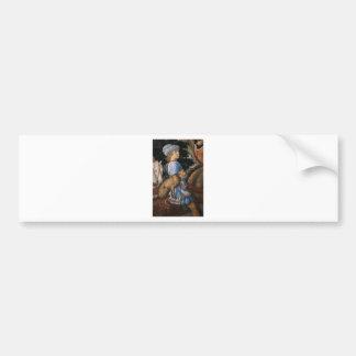 Procession of the Magus Caspar (detail) by Benozzo Bumper Sticker