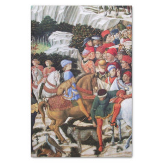 """Procession of the Magus Melchior / Horse Riders 10"""" X 15"""" Tissue Paper"""