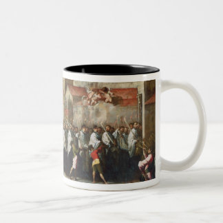 Procession of the Relics of the Holy Brescian Bish Two-Tone Coffee Mug