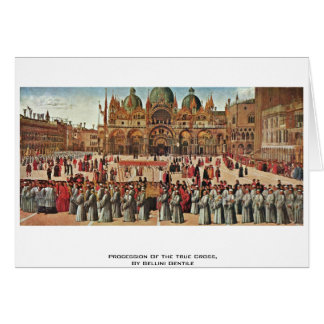 Procession Of The True Cross, By Bellini Gentile Greeting Card