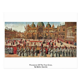 Procession Of The True Cross, By Bellini Gentile Postcard