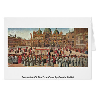Procession Of The True Cross By Gentile Bellini Greeting Card
