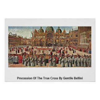 Procession Of The True Cross By Gentile Bellini Poster