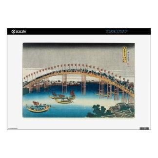 "Procession over a Bridge (colour woodblock print) Skins For 15"" Laptops"