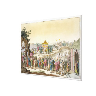 Procession to a Taoist Traditional Wedding, illust Canvas Print