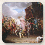 Procession to the Roiall Justs Holden in Smithfiel Beverage Coaster