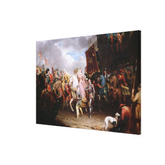 Procession to the Roiall Justs Holden in Smithfiel Canvas Print