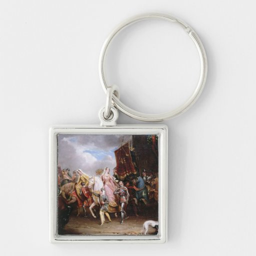 Procession to the Roiall Justs Holden in Smithfiel Keychain