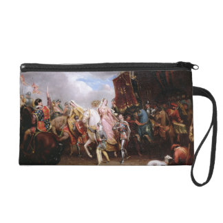 Procession to the Roiall Justs Holden in Smithfiel Wristlet Purse