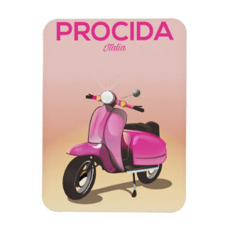 Procida Italy scooter vacation poster Magnet