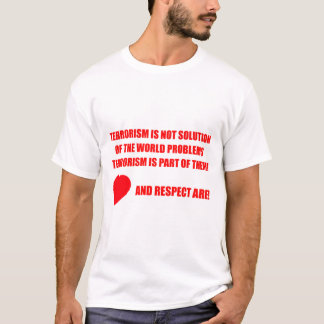 Proclaim NO to world terrorism Men's Basic T-Shirt