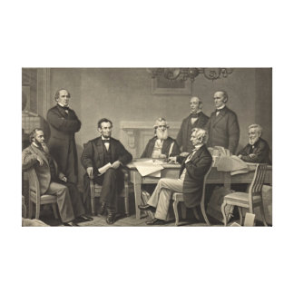 Proclamación 1866 de la emancipación impresión de lienzo
