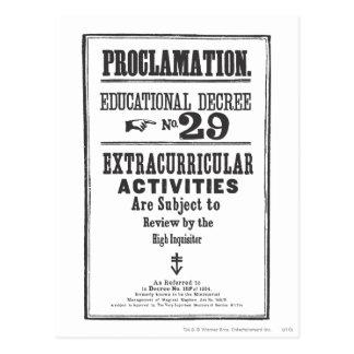 Proclamación 29 postal