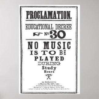 Proclamación 30 póster