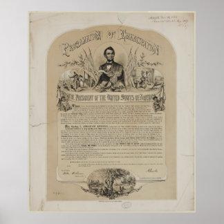 Proclamación B B Russell y Co (1868) de la Póster