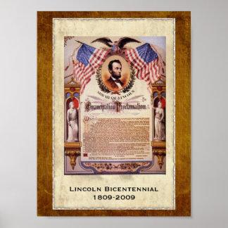 Proclamación conmemorativa anticuada de la póster