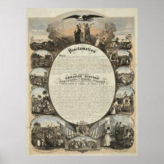 Proclamación de la emancipación [1864] poster