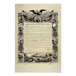 Proclamación de la emancipación de Abraham Lincoln Impresiones