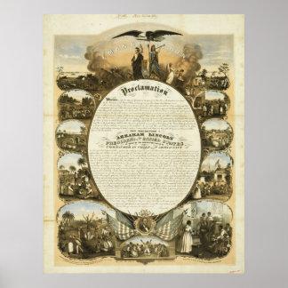 Proclamación de la emancipación de L Lipman Poster