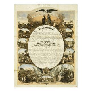 Proclamación de la emancipación de L Lipman Tarjeta Postal