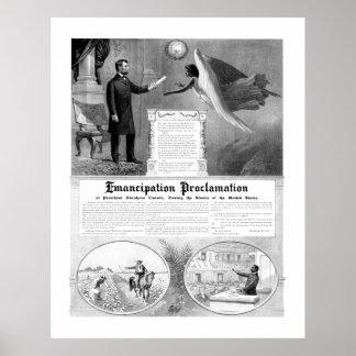 Proclamación de la emancipación poster