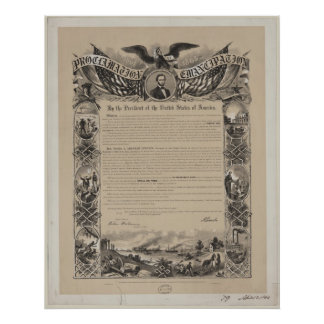 Proclamación de la emancipación impresiones