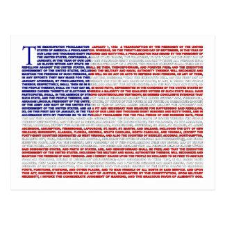 Proclamación de la emancipación postales