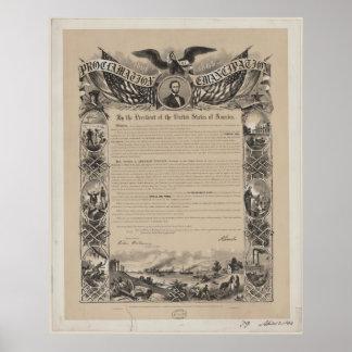 Proclamación de la emancipación póster